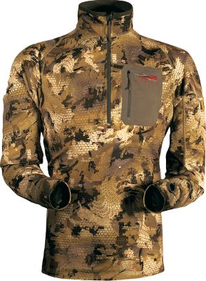 Hunting Four-way-stretch construction allows this tee to move with you as you swing on passing birds. Warmth-trapping microfleece makes it ideal for wear as a midlayer. Antimicrobial treatment wards off odor-causing bacteria. Tightly woven jersey face resists snags and pilling. Imported. Sizes: M-2XL. Camo pattern: OptiFade Concealment Marsh. Size: 2XL. Color: Optifade Marsh. Gender: Male. Age Group: Adult. Pattern: Camo. Material: Jersey. Type: Pullovers. - $129.00