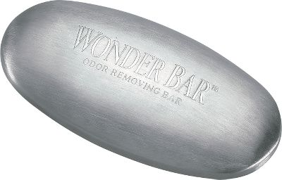 Fishing Eliminate fish odors from your hands without soap. Under cool running water rub this amazing metallic bar for 30 seconds over any skin surface you would like to deodorize. Odors vanish instantly. Great for use in streams, because it is completely pollution free. Also great for removing odors left behind by bait, strong foods and chemicals. The bar lasts forever and never loses its ability to remove odor. - $7.99