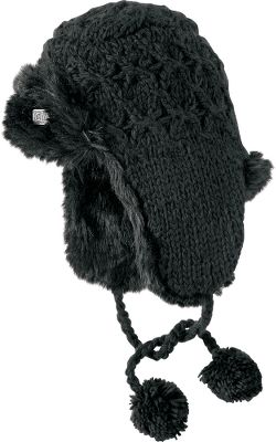 Ski Hand crafted credibility and ski-slope sensibility meet in this hand-knit acrylic trapper hat. Faux-fur trim keeps you warm, while maintaining smart style. One size fits most. Imported.Colors: Black, Heather Grey, White. - $19.88
