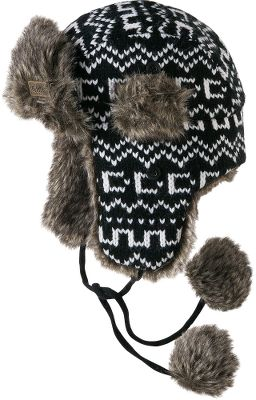 Ski This stylish trapper hat is fun, festive and faux-fur trimmed. Crafted from 100% acrylic jacquard knit. One size fits most. Imported.Colors: Black, Plum. - $24.99