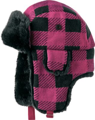 Ski A Northcountry classic meets slope-side style in this fun trapper hat. Cut from warm 100% acrylic plaid. One size fits most. Imported.Color: Fuchsia. - $16.88
