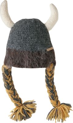 Ski Brighten up any winter's day when you storm the slopes wearing this hilarious, hand-knit acrylic hat. Features knit viking-style horns and stylized braids for a fun, festive look. One size fits most. Imported.Colors: Winter White, Bronze. - $44.88