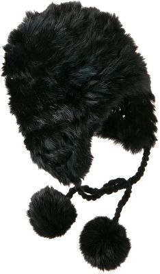 Ski Look around, but you won t find a warmer, better looking hat for your winter wanderlust. Crafted from 100% acrylic yarn with authentic rabbit fur trim and pom tassels. One size fits most. Imported.Colors: Black, Winter White, Silex. - $19.88