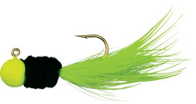 Fishing Specks and minnows go together like peanut butter and jelly. Now give them a double dose. A minnow-shaped Slab-Daddy anchors the rig. No. 2 StandOUT hook lets you add another minnow or bait just above it. Size: 1/8 oz. Colors: (730)Chartreuse/Black/Chartreuse, (733)Chartreuse/White/Chartreuse, (738)Chartreuse/Pink/Chartreuse, (741)Orange/Black/Chartreuse. Color: Black/Chartreuse. - $0.88