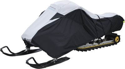 Snowmobile Rugged, water/UV/mildew-resistant ProtekX fabric protects your snowmobile in storage or on the trailer. Wont stretch or shrink.Trailering tension straps and panels keep cover in place at highway speeds. Elastic cord hem. Zippered fuel tank access. Imported. Three-year warranty. Sizes: Large (fits 101-118 long) X-Large (fits 119-127 long) Size: XL. - $119.99