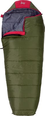 "Camp and Hike Featuring heat-trapping SlumberLoft insulation and ground-level side seams, these lightweight bags offer exceptional warmth and comfort. Two-layer, offset construction prevents cold spots. Draft tube along anti-snag zipper keeps cold air out. Flip-over hood gives you the option of a flat or contoured hood. Chest pocket for holding valuables. Built-in pillow pocket keeps pillow in place while sleeping. Trapezoidal footbox offers extra space. Polyester Taffeta shell and liner. Stuff sack included. Imported.Size: 30""W x 65""L.Temperature rating: +30 F.Carry weight: 3 lbs. 8 oz. - $39.88"