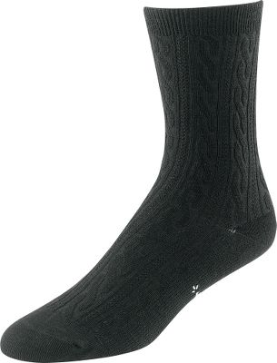 Made from temperature-regulating SmartWool, these socks are great for all-day, do-anything activities. With a soft top, smooth toe seam and a supportive arch brace, these socks have a welcoming fit and feel. Made of 70% wool, 27% nylon and 3% spandex. Woven design for style. Crew height. Per pair. Made in USA. Womens sizes: S(4-6.5), M(7-9.5), L(10-12.5). Colors: Black, Medium Gray Heather. Size: One Size. Color: Medium Gray Heather. Gender: Female. Age Group: Adult. Material: Nylon. Type: Casual Socks. - $15.99