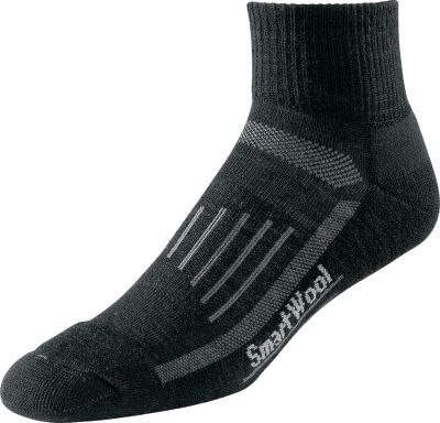 Youll be amazed how a pair of quality walking socks can enhance the performance of your footwear to make treks more enjoyable. The SmartWool Fit System incorporates added support for your arches and ankles. Waffle-knit flex zones team with a 2x1 soft rib leg and flat-knit toe seams to deliver comfort and a fit that wont let you down. Reinforced soles help these socks last longer than those of lesser construction. 60% Merino Wool, 38% Nylon, 2% Elastane blend provides an itch-free and soft feel that lasts all day. Machine washable. Performance socks born in Colorado, Made in America, using the finest merino from around the world. Unisex sizes: Medium, Large. Colors: Black, Natural, White, Pink (not shown). Size: Large. Color: White. Gender: Female. Age Group: Adult. Material: Nylon. - $14.99