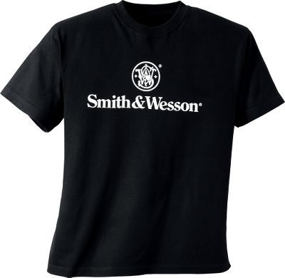 Go ahead. Make your day with Smith Wesson attitude in an affordable tee that sports the company crest and logo. Crafted of soft, preshrunk 100% cotton jersey that looks and feels great. Machine washable. Imported.Sizes: M-2XL.Color: Black. - $19.99