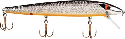 Fishing Whether cast or trolled, this premier jerkbait always runs true. This lure features a unique counterbalance weighting system that shifts weight to the rear of the lure for longer, more accurate casts. It has an exclusive scale pattern, patented 3-D eyes and is designed and engineered to run true and suspend right out of the package. Per each. Size: 5, 3/8 oz. Colors: (231)Chrome/Black Back/Orange Belly, (232)Chrome/Blue Back/Orange Belly, (235)Clown. Color: Orange. Type: Stick Baits. - $7.29