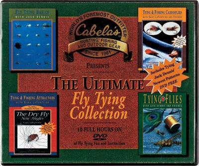 Flyfishing The Ultimate Fly-Tying DVD Collection DVDs includes: Tying Fishing Caddis Flies with Gary LaFontaine Friends; Tying Fishing Attractors with Gary LaFontaine; Tying Flies with Jack Dennis Friends, Vol. I; Tying Jack Dennis' Newest Patterns; Fly-Tying Basics with Jack Dennis. 10 hours. - $28.88