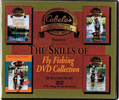 Flyfishing The Skills of Fly-Fishing DVD Collection includes: Getting Started Fly-Fishing; Learning to Fly-Fish; Improving Your Fly-Fishing the Cabela's Way; Improving Your Fly-Fishing with Jack Dennis Friends; Fly-Fishing Tips from the Traveling Fly-Fisherman; Improving Your Fly-Casting with Jack Dennis; Improving Your Fly-Casting the Cabela's Way; How to Fish Our Favorite Flies; Twenty Places to Fly-Fish Before You Die; The Jackson Hole One Fly Adventure. 20 hours. - $45.88
