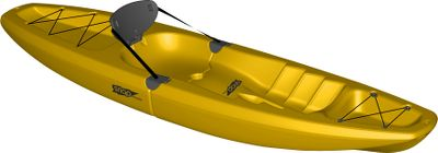 Kayak and Canoe A versatile, modular kayak that fits in the trunk of your car or under your bed. Innovative Snap-Tap System lets you assemble and disassemble the high-performance kayak in seconds. Seat and foldable backrest offer exceptional comfort and back support. Convenient cup holders. Durable, contoured foot braces. Made of heavy-duty, blow-molded polyethylene. One-year warranty. Made in USA. Length: 810. Width: 24.2. Weight: 40 lbs. Weight capacity: 220 lbs. Front section length: 55. Stern section length: 55. Color: Yellow. Color: Yellow. Type: Kayak. - $399.00