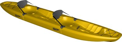Kayak and Canoe A versatile, modular kayak that fits in the trunk of your car or under your bed. Innovative Snap-Tap System lets you assemble and disassemble the high-performance kayak in seconds for easy carrying, storing and hauling. Snap in the midsection and your solo kayak transforms into a Tandem. Seat and foldable backrest offer exceptional comfort and back support. Convenient cup holders and integrated rod holders. Durable, contoured foot braces. Made of heavy-duty, blow-molded polyethylene. One-year warranty. Made in USA. Length: 129. Width: 24.2. Weight: 67 lbs. Weight capacity: 440 lbs. Front section length: 55. Midsection length: 50. Stern section length: 55. Color: Yellow. Color: Yellow. Type: Kayak. - $699.00