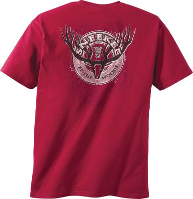 Tees for the Sneekee hunter. 100% cotton. Imported. Sizes: M-2XL. Available: Red Stroke with Glow, Eye on the Prize, Rustic Stamp. Size: MEDIUM. Color: Red. Gender: Male. Age Group: Adult. Material: Cotton. Type: Short-Sleeve Tee Shirts. - $17.99