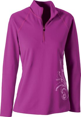 Your winter adventures deserve a base layer built for all-day outdoor fun. Made of a perfect blend of 90/10 antimicrobial-finished polyester/spandex, this crew offers wind and weather resistance, inside air circulation and moisture management, and it delivers maximum heat retention. Raglan sleeves and a snug-but-stretchable fit give superior comfort and allow for extra mobility. Silkscreen artwork. Machine washable. Made in USA. Sizes: S-XL. Colors: Fuchsia, Sapphire. Type: Base Layer Tops. Size: Small. Size Small. Color Fuchsia. - $26.88
