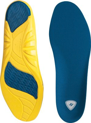 Endurance-boosting comfort for on-the-move hunters and competitive athletes who log double-digit mileage. Sof Sole cushioning with shock-absorbing gel in the heel and forefoot cushion and support for a ground-eating pace over long distances. Moisture-managing Hydrologix fabric overlays keep feet dry. Engineered for supporting medium arches. Imported. Women's sizes: XS(5 to 7-1/2), S(8 to 11). Men's sizes: M(7 to 8-1/2), L(9 to 10-1/2), XL(11 to 12-1/2), 2XL(13 to 14). Color: Blue. Type: Insoles. - $10.88