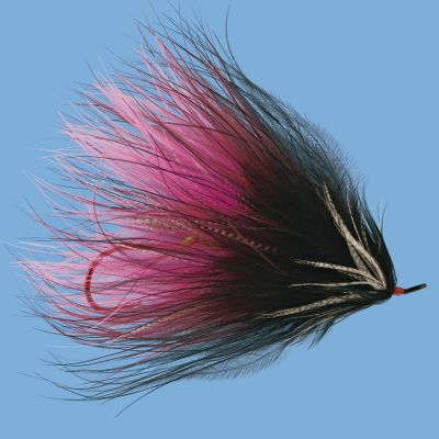 Flyfishing An excellent fly for steelhead and salmon. Per each. Size: 1. Colors: (104)Black/Red, (192)Black/Blue, (307)Pink/Orange. Color: Black/Blue. - $0.88