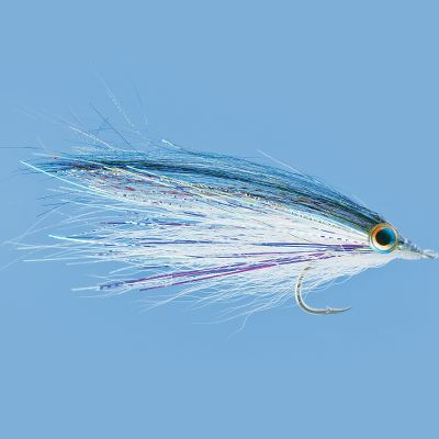Flyfishing This herring look-a-like has the kind of flashy glitz you'd expect to see in a 70's-era nightclub. Its tempting allure makes it appetizing to blues, stripers, false albacore and dorado. Per each. Size: 2/0. - $3.99