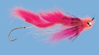 Flyfishing Plenty of flash combined with a quivering rabbit hair wing triggers finicky salmonids. Stinger hook nabs short-strikers. Per each. Size: 2. Color: Pink. - $0.88