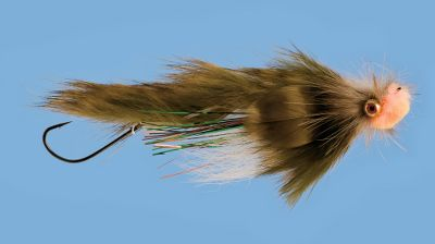 Flyfishing Subtle flash combined with a quivering rabbit hair wing triggers finicky salmonids. Stinger hook nabs short-strikers. Per each. Size: 4. Color: Olive. - $3.69