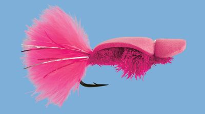 Flyfishing A highly buoyant, visible pattern used for surface walking for Silver salmon. Per each. Size: 2. Color: Pink. - $3.79