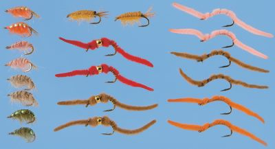 Flyfishing Go armed with this assortment of scuds and San Juan worms to any tailwater fishery in the country and catch fish. Includes two each: San Juan worm(size 12) in Orange, Pink, Orange and Brown; Scud(14) in Olive, Pink and Tan; Soft Tex Scud(14) Orange; Tungsten San Juan worm(12) in Brown and Red. Color: Tailwater. Gender: Male. Age Group: Adult. - $37.99