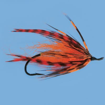 Flyfishing A go-to attractor thats great for enticing summer-run steelhead. Strong silhouette with orange hackle and copper wrap casts and swings easily. Per each. Size: 5. Color: Orange. - $1.88
