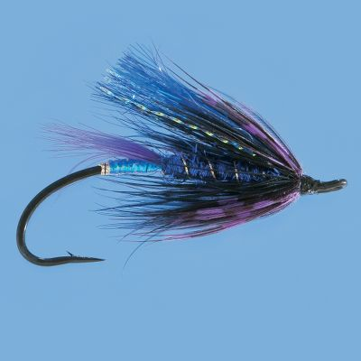 Flyfishing This large profile streamer with purple barred hackle and squirrel wing on a spey hook is deadly on steelhead in dark water and low-light applications. Per each. Size: 5. Color: Purple. - $3.29
