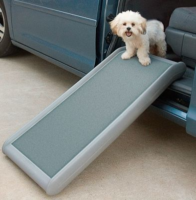 Hunting Lightweight, highly portable ramp provides a perfectly safe and effective way for your dog to enter or exit your vehicle. Or position it on a couch to give your furry family member extra around-the-house access. High-traction surface helps eliminate slipping and sliding. Crafted of strong polyethylene. Supports up to 200 lbs. Weight: 6 lbs. Dimensions: 39L x 18W x 4H. - $59.99