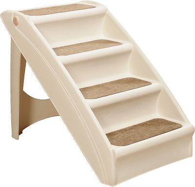 Hunting Give your pet quick, safe access to your bed or couch. The Solvit Pupstep Plus Pet Stairs feature a compact, folding design for easy storage and sturdy construction that supports dogs of all sizes. Built-in safety side rails protect your pet from falling off, while the modern styling fits in beautifully with any dcor. Training may be required. Available: Regular Holds up to 120 lbs. Recommended for small- to medium-sized dogs. 19.5H x 16W x 24D. X-Large Holds up to 200 lbs. Recommended for large dogs. 25H x 18W x 28D. Size: REGULAR. Type: Ramps & Ladders. - $54.99