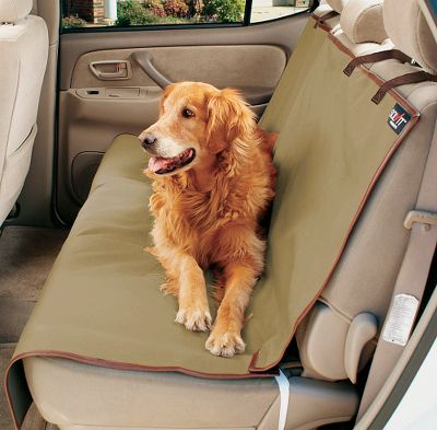 Hunting If you enjoy taking your dog along for the ride but hate the idea of shed fur, stains, dirt or wetness in your vehicle, youll love the convenience of a Solvit Waterproof Pet Seat Cover. Attractive, entirely waterproof and made of heavy-gauge polyester. The exceptional one-size-fits-most design and straps keep it firmly fixed in place for the ultimate in upholstery protection. Extra-wide seat covers are available. Machine washable. Imported. Available: Bench Seat Cover Faux-leather trim, adjustable straps, antique-brass hardware and Sta-Put devices. Dimensions:47L x 56W. Weight: 2 lbs. Bucket Seat Cover Elastic straps and a Sta-Put device. Dimensions:52L x 22W. Weight: 1.5 lbs. Cargo Liner (not shown) Hook-and-loop fasteners. Dimensions: 52L x 50W. Weight: 2 lbs. Hammock Seat Cover Faux-leather trim, adjustable straps, two storage pockets and Sta-Put devices. Dimensions:57L x 56W. Weight: 2.5 lbs. Type: Seat Covers. - $34.99