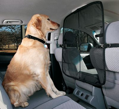 Auto and Cycle Keep your pets from inviting themselves into the front seat area, and reduce potential driving distractions. The clawproof, see-through micromesh material is attached to a pop-up wire frame that keeps the net from sagging. Adjustable suspension system fits all vehicles with headrests. Installs in about a minute. Includes a handy storage pouch. One-year manufacturers warranty. Imported. Available: Front Seat Blocks entry to the front seats. Dimensions: 32L x 32W. Weight: 1 lb. Cargo Area Keeps pets off the seat and in the cargo area. Dimensions: 36 x 22. Weight: 1 lb. Type: Pet Barriers. - $29.99