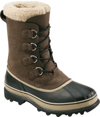 Sorel Caribou Boots are a long-time customer favorite. Handcrafted waterproof rubber shells are complemented by waterproof, full-grain leather uppers for complete protection from the elements and comfort needed to tackle any winter activity. The 9mm removable ThermoPlus felt inner boots seal in warmth and cushion your feet for walking comfort. The aggressive Aerotrac outsoles bite into slippery surfaces for the traction needed to keep you on the go during the winter months. Imported. Average weight: 4.8 lbs./ pair. Mens whole sizes: 8-14. Colors: Tan, Brown. Size: 13. Color: Tan. Gender: Male. Age Group: Adult. Material: Leather. - $150.00