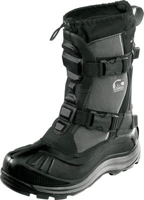 "Excellent all-around utility boots for winter. The extra-high shafts and drawcord adjustable tops work to keep out snow when your walking through deep drifts. The durable, polyurethane-backed synthetic uppers seal out moisture and toe-numbing winds. Built-in gaiters with barrel-lock closure systems ensure a custom fit. Removable 13mm ThermoPlusXtreme InnerBoot, 13mm Sorel Meltdown Midsoleand a 2.5mm bonded felt frost plug keep the insides of the boots well-insulated. Handcrafted, waterproof vulcanized rubber shells add further insulated weather protection. AeroTracnonloading outsoles grip winter terrain. Order next size up if wearing with heavy socks.Height: 14"".Average weight: 3.18 lbs./pairMen's whole sizes: 8-14.Color: Black. Type: Pac Boots. Size: 10. Shoe Width: D. Color: Black. Size 10. Color Black. - $149.88"