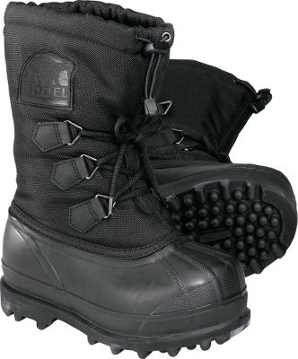 The Glacier can handle any winter condition. It has a durable 1000-denier Cordura nylon upper outfitted with cordlock cuffs and handcrafted, 100% waterproof rubber shell. Each has a removable 13mm ThermoPlus felt inner boot and removable 13mm Meltdown Midsole. It also has an Aerotrac outsole.Order next size up if wearing with heavy socks.Kids whole sizes: 1-6.Color: Black. Type: Winter Boots. Size: 3. Shoe Width: B. Color: Black. Size 3. Color Black. - $69.88