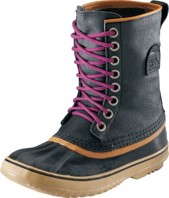 Faithful to the traditional pac-boot design that has made Sorel boots a favorite for decades, 1964s deliver waterproof warmth and comfort. Waterproof waxed-canvas uppers team with seam-sealed construction and waterproof vulcanized-rubber shells to keep feet dry. Removable, 9mm, recycled-felt inner boots provide warmth and are washable. Imported.Height: 9.Average weight: 2.75 lbs per pair.Womens whole sizes: 6-10.Colors: Lead Gray, Black, Stone. - $139.99