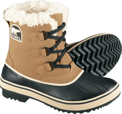Upgrade your individualized winter style without sacrificing cold-weather performance. Waterproof suede uppers and leather shells. 100-gram Thinsulate Insulation. Fleece linings and rubber outsoles. Imported. Women's sizes: 6-10. Half sizes to 10.Color: Buff. - $89.88