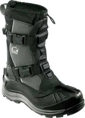 "Excellent all-around utility boots for winter. The extra-high shafts and drawcord adjustable tops work to keep out snow when you're walking through deep drifts. The durable, polyurethane-backed synthetic uppers seal out moisture and toe-numbing winds. Built-in gaiters with barrel-lock closure systems ensure a custom fit. Removable 13mm ThermoPlusXtreme InnerBoot, 13mm Sorel Meltdown Midsoleand a 2.5mm bonded felt frost plug keep the insides of the boots well-insulated. Handcrafted, waterproof vulcanized rubber shells add further insulated weather protection. AeroTracnonloading outsoles grip winter terrain. Order next size up if wearing with heavy socks.Height: 14"".Average weight: 2.1 lbs./pairWomen's whole sizes: 6-10.Color: Black. - $49.99"