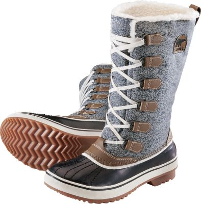 Upgrade your individualized winter style without sacrificing cold-weather performance with the Sorel Womens Tivoli High Winter Boots. Water-resistant polyurethane-coated textile uppers, waterproof thermal rubber shells, Sherpa Pile snow cuffs and 200-gram Thinsulate Insulation seal winter weather out. Multidirectional lug outsoles. Imported.Ht: 10.Avg. wt: 2.2 lbs./pair.Womens sizes: 6-10 medium width. Half sizes to 10.Color: Dark Brown. Type: Winter Boots. Size: 7. Shoe Width: DARK BROWN. Color: Medium. Size 7. Color Dark Brown. Width Medium. - $140.00