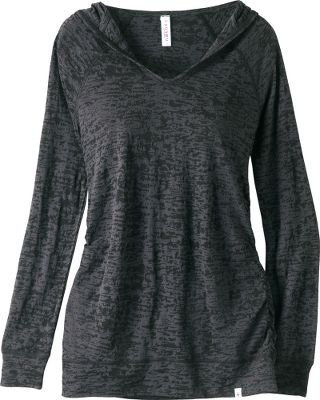 This hoodie is the perfect casual top for your active lifestyle. Open V-neck design and detailed ruching offer a comfortable fit with a flattering look. 75/25 polyester/rayon burnout jersey fabric is buttery-soft, lightweight and breathable. Imported. Center back length for size Medium: 27-1/2. Sizes: S-2XL. Colors: Asian Garden, Paper Lanterns, Pink Daisies, Reflection, Safari. Size: LARGE. Color: Paper Lanterns. Gender: Female. Age Group: Adult. Material: Polyester. - $20.88