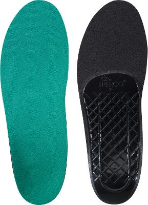 Camp and Hike Specially designed to support and balance feet while hiking rocky terrain or walking around town. The soft, arch cushionings absorb impact and shock, thanks to a closed-cell system in the Spenco nylon. The four-way stretch fabric with Ultra-Fresh Silpure antimicrobial prevents blisters and controls odor. Customize the shape of the orthotics simply by boiling them in hot water for two minutes, then bending them into the desired shape. Hand wash in warm water. Air dry. Manufacturer's one-year warranty.Arch height: 25.8mm.Thickness at heel: 6.29mm. Sizes: 6/7, 8/9, 10/11, 12/13.Sizing ChartSize6/78/910/1112/13U.S. Women's7/89/1011/12-U.S. Men's6/78/910/1112/13U.K.5/67/89/1011/12European38/4040/4242/4444/46 Size: 12/13. Type: Footwear Accessories. - $8.88