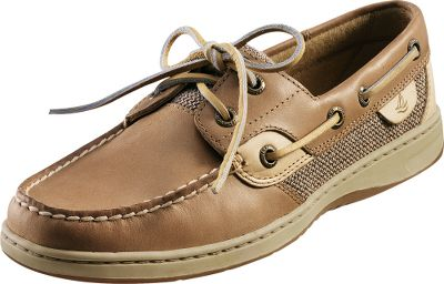 Entertainment Premium boat shoes featuring handsewn quality with stain- and water-resistant leather. Mesh uppers offer cool, breathability. Molded EVA midsoles for cushioned comfort. Nonmarking rubber outsoles with Wave-Siping provide wet and dry traction. Imported.Womens sizes: 6-10 medium width. Half sizes to 10.Colors: Brown, Linen/Oats, Navy, Greige, Navy/Seersucker. Size: 9. Color: Linen/Oats. Gender: Female. Age Group: Adult. Material: Leather. Type: Boat Shoes. - $64.88
