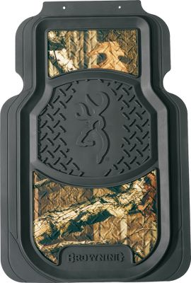 Hunting Molded SPG Floor Mats have raised edges to keep dirt and water trapped on the mat and off the floor. Rubber grips on back prevent slipping. Universal fit. Rear Mats are sold per each. Front Mats are sold per pair. Styles: Striker, Browning, Realtree, Bone Collector, Mossy Oak Break-Up Infinity, Mossy Oak Break-Up Pink Front Mat, Mossy Oak Break-Up Pink Rear Mat, Mossy Oak Break-Up Infinity Pink. Color: Pink. Type: Floor Mats. - $34.99