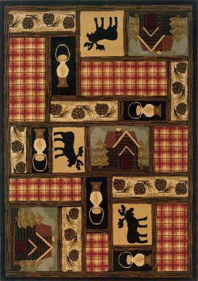 Hunting Discover affordable elegance, sophisticated workmanship and uncommon value in these traditional-to-casual designs. Modern-day colorways include rich reds and pure ivory tones highlighted with organic hues of green, blue and terra cotta. The rugs are made of machine woven, heat-set polypropylene with jute backing for unmatched color retention, stain resistance and durability. Blot spills with dry cloth. Professional cleaning and rug pad recommended (sold separately). Made in USA. Dimensions: 310 x 55. Available: Moose, Southwest, Bears. Color: Green. Type: Indoor Rugs & Mats. - $149.99