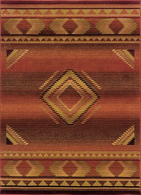 The Generations Southwest Collection boasts a wonderful coloration in cross-woven construction with up to 36 colors in each design. The classic color palette includes reds, greens, browns, and plums that vary from soft to deep tones. Designed to coordinate with transitional to traditional and tribal to contemporary dcor. This collection is sure to add beauty and interest to any home. Inherently stain-resistant. 100 heat-set polypropylene. Spot clean. Professional cleaning and rug pad recommended (sold separately). Imported. Dimensions: 5'3 x 7'6 . - $349.99