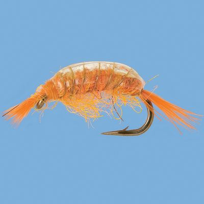 Flyfishing These flies resemble a freshwater crustacean found along weedbeds in lakes and rivers. The pearl back adds the appearance of a shell and gives it a little flash. Per 3. Sizes: 14, 16, 18. Color: Orange. Color: Orange. Type: Wet Flies. - $5.79