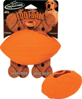 Hunting Keep your dog entertained anytime, anywhere. This ball floats and bounces, allowing your dog to retrieve on land and water. The high-visibility blaze orange makes it easy to keep track of, while its solid-rubber construction stands up to years of abuse. Your dog will go crazy when you put their favorite treat in the Treat Trapper. Available: Medium (20- to 50-lb. dogs), Large (50-lb. dogs and up). - $6.99