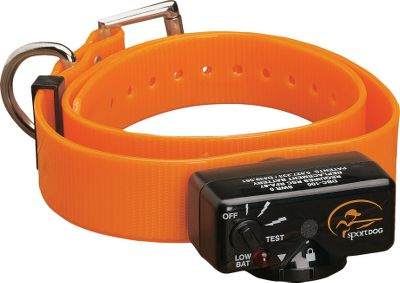 Entertainment Prevent nuisance barking and protect your dog from the risk of overcorrection with this premium SportDOG Brand no-hassle bark collars. The fully automated stimulation control needs no setup or programming, just drop in the battery and fasten the collar around the dogs neck. The stimulation continues to rise as long as the barking continues and automatically resets after 30 seconds of silence. Unit is waterproof. The SBC-18 boasts 18 levels of stimulation and patented Perfect Bark technology, requiring both vibration and sound to begin stimulation. Unit also has a test mode. It fits 6-28 neck sizes. It uses a 6-volt lithium battery module (included). Size: 2.1 x 1.1 x 1.1. Weight: 4.6 oz. Gender: Male. Age Group: Adult. - $59.99