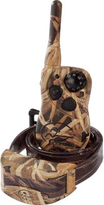 Entertainment Perfect for the waterfowler, this waterproof transmitter and receiver unit comes in Realtree MAX-4 camo. Select from seven different stimulation intensities, along with the option to use a tone or vibration. The trainers 500-yard range is ideal for distance training as well as close work. Lightweight, 3.3-oz. receiver/collar unit charges in two hours. Transmitter controls up to three collars at once. Includes remote transmitter, collar/receiver unit, rechargeable batteries, adapter, test light, lanyard, long contact points, training DVD and manual. Color: Camo. - $189.99